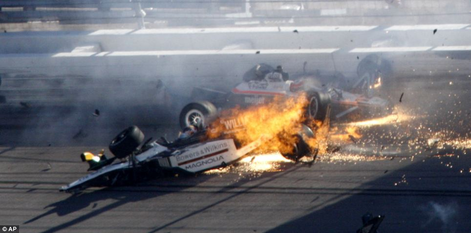 Dan Wheldon Crash 10