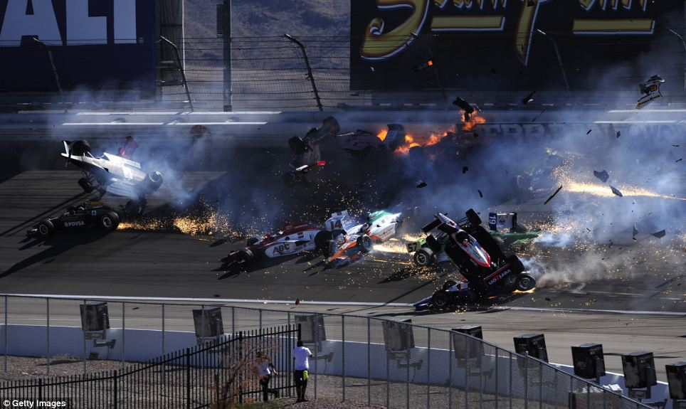 Dan Wheldon Crash 3