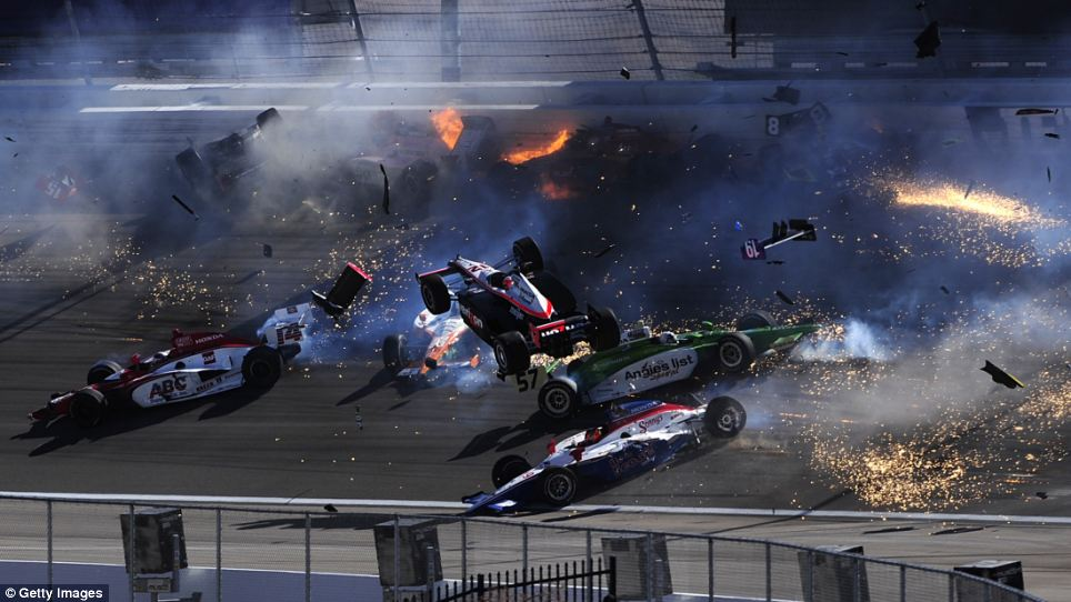 Dan Wheldon Crash 4
