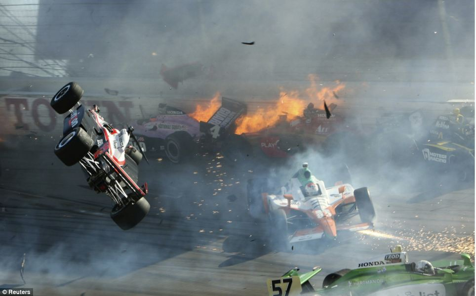 Dan Wheldon Crash 5