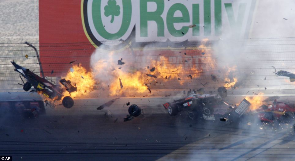 Dan Wheldon Crash 8