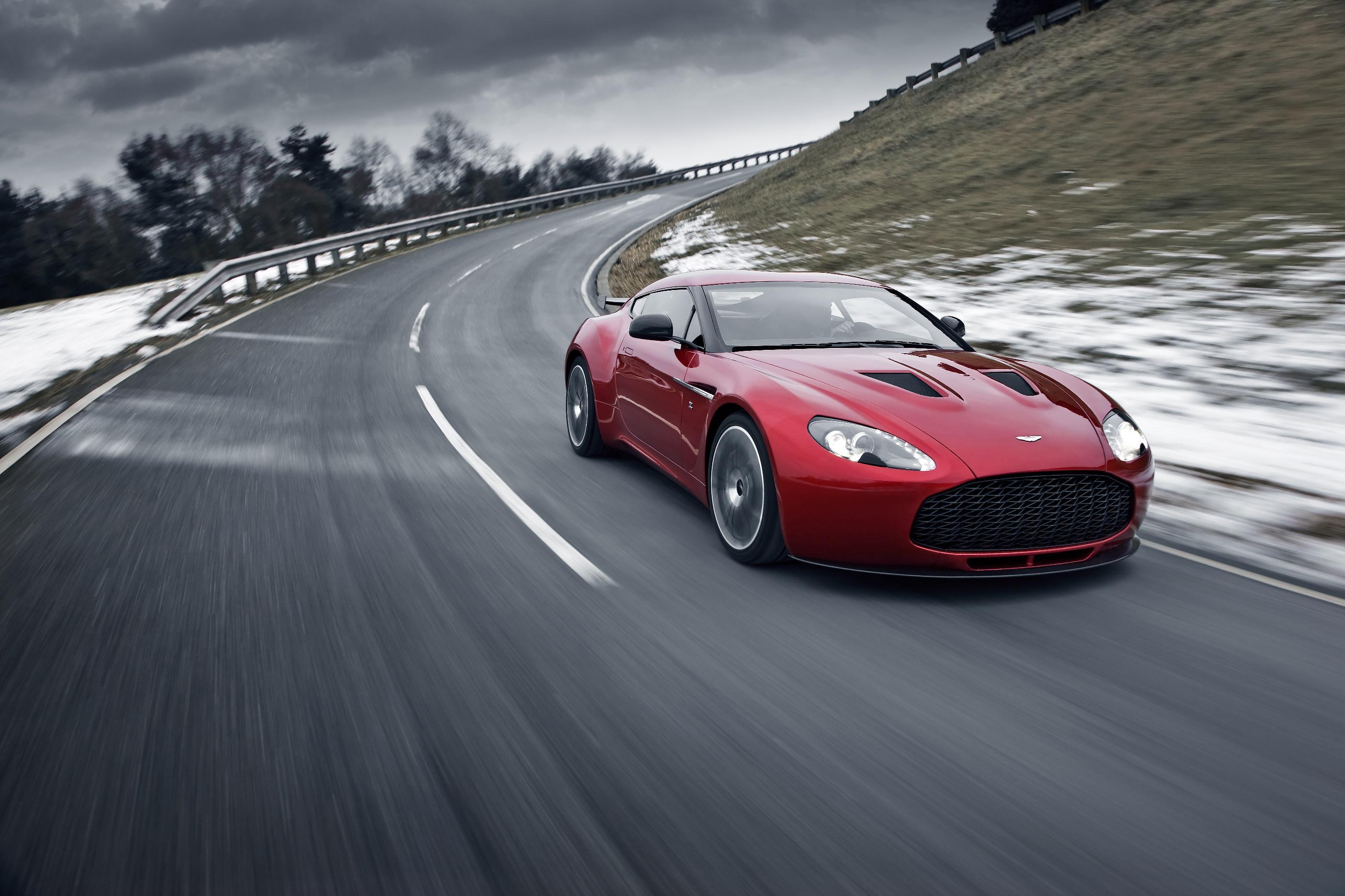 Aston Martin V12 Zagato Driving