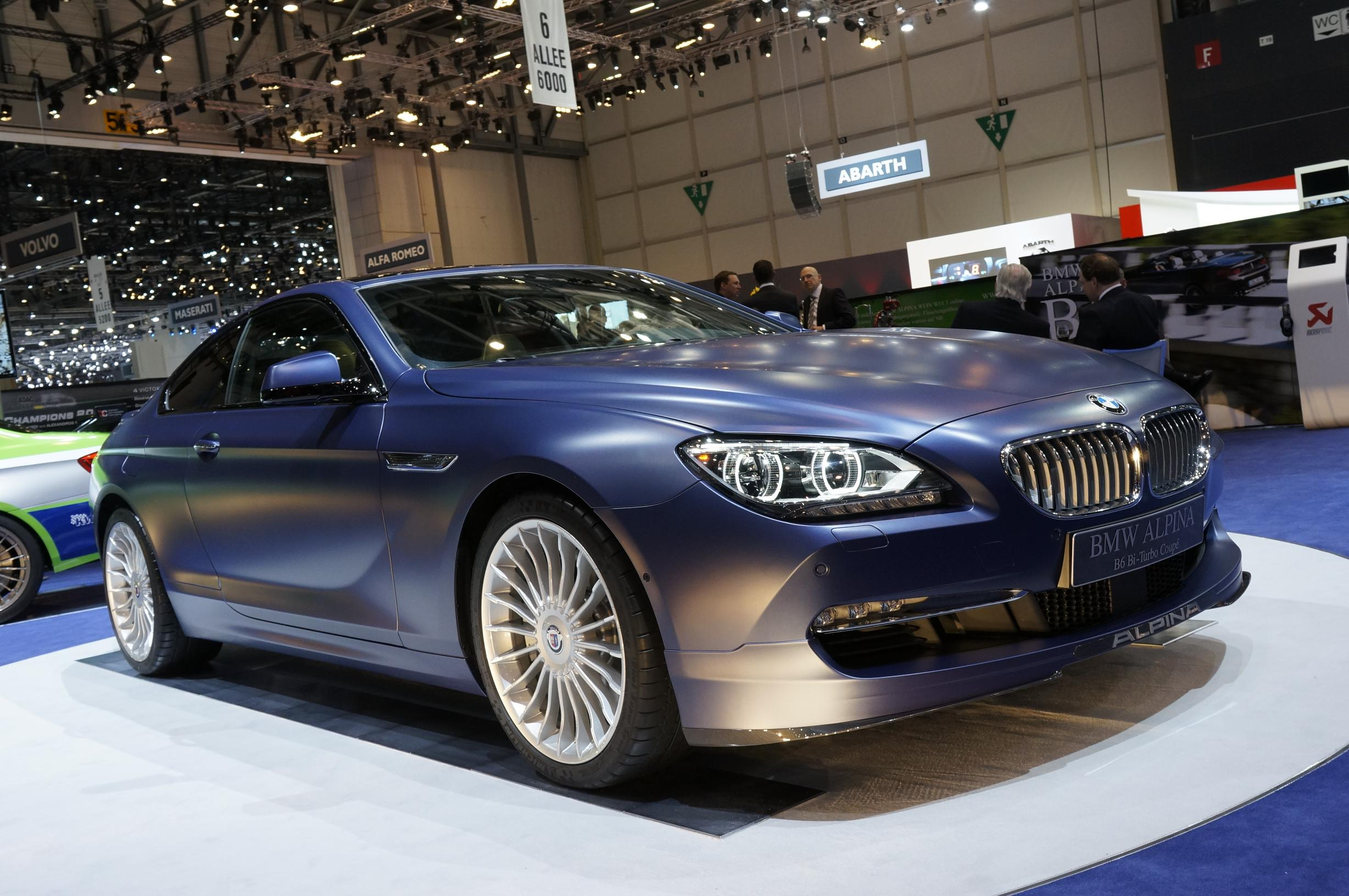 Alpina BMW B6 Bi-Turbo Coupe Geneva 2012 Front
