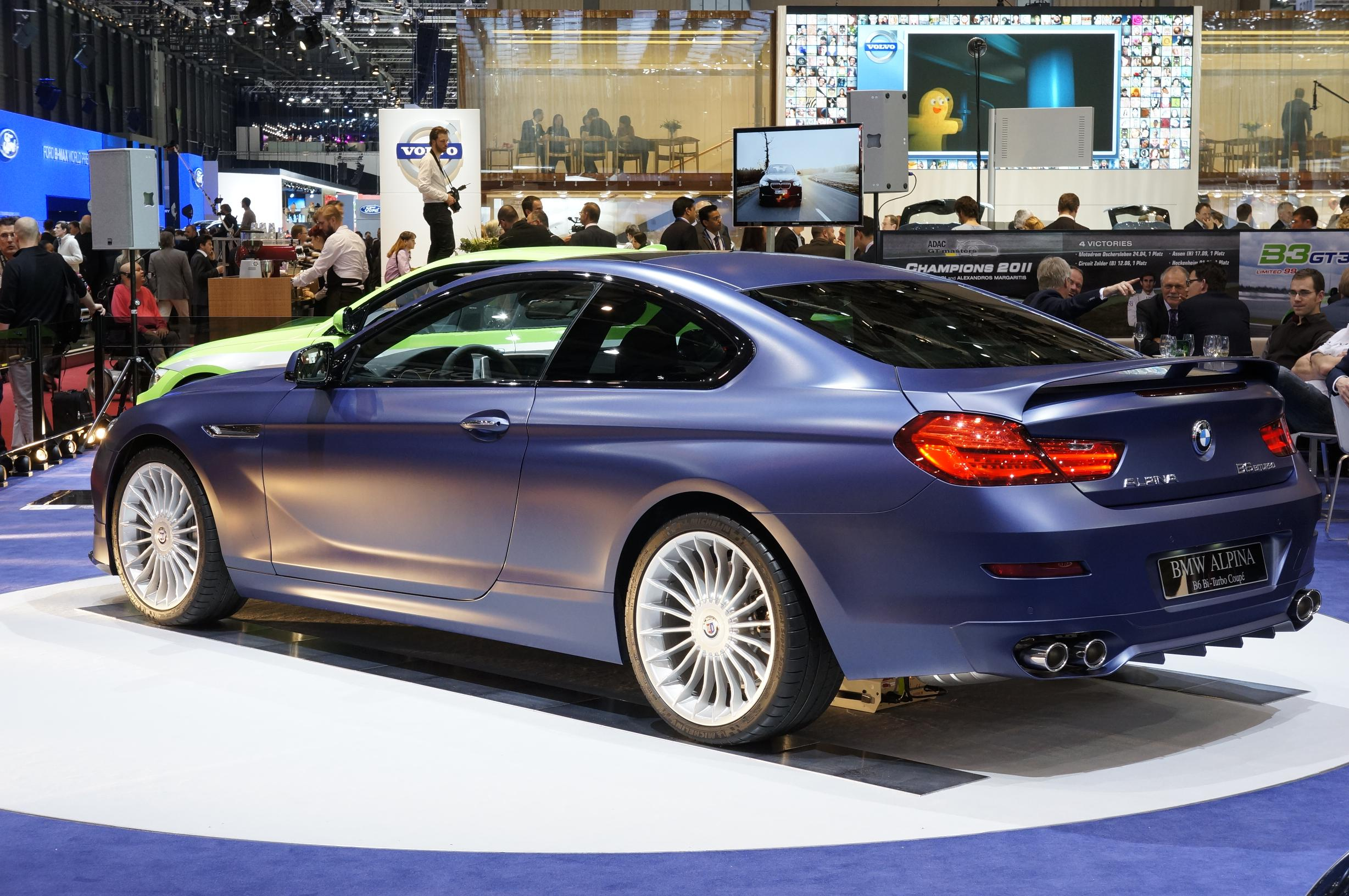 Alpina BMW B6 Bi-Turbo Coupe Geneva 2012 Rear