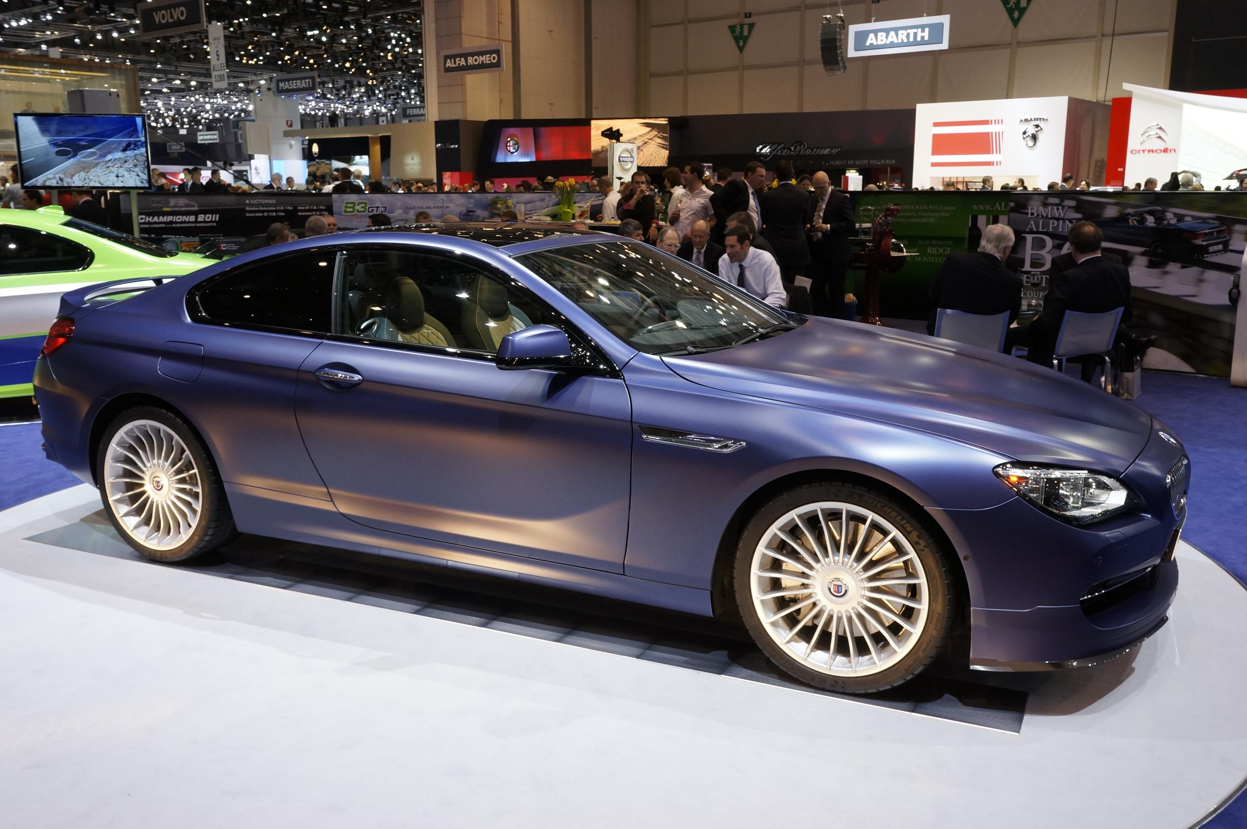 Alpina BMW B6 Bi-Turbo Coupe Geneva 2012 Side