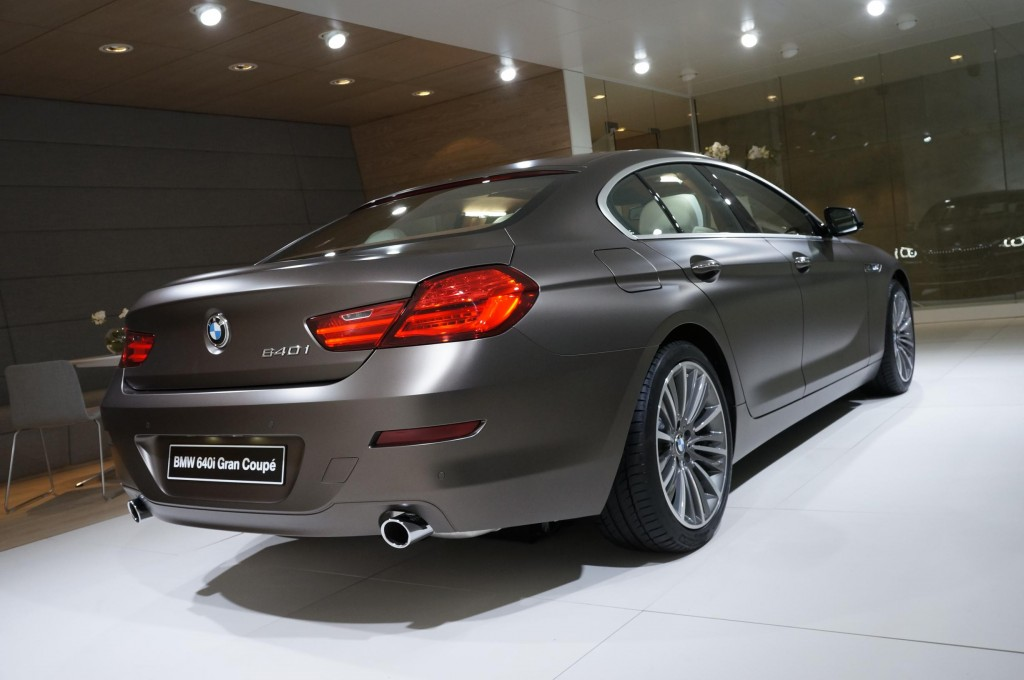 BMW 640i Gran Coupe Geneva 2012 Rear
