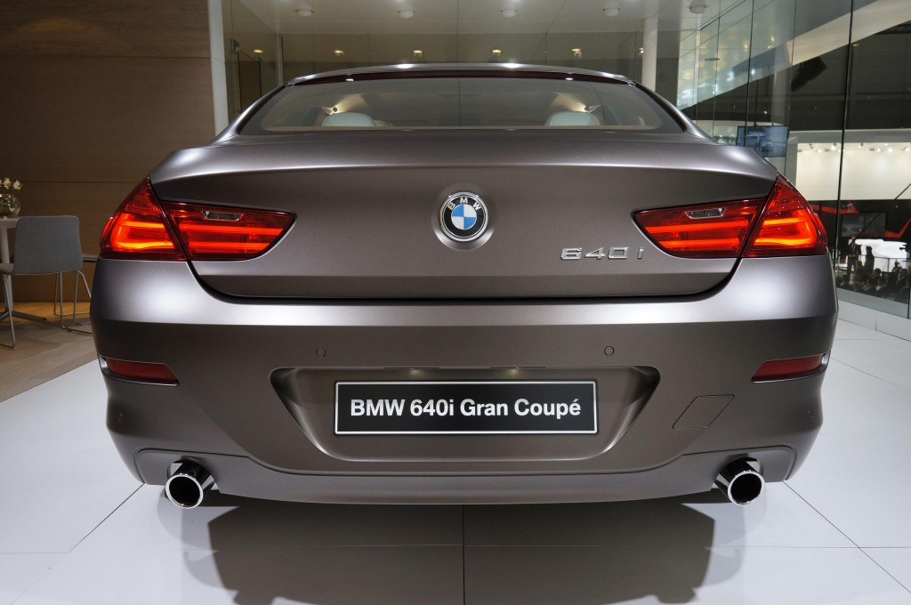 BMW 640i Gran Coupe Geneva 2012 Rear Exhaust