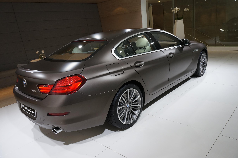 BMW 640i Gran Coupe Geneva 2012 Rear Side