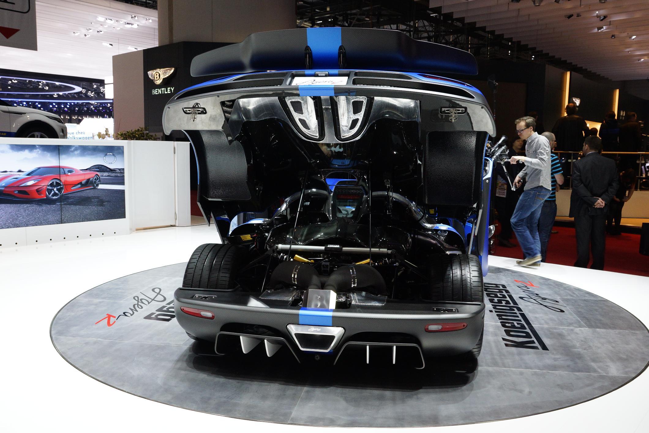Koenigsegg Agera R Geneva 2012 Engine