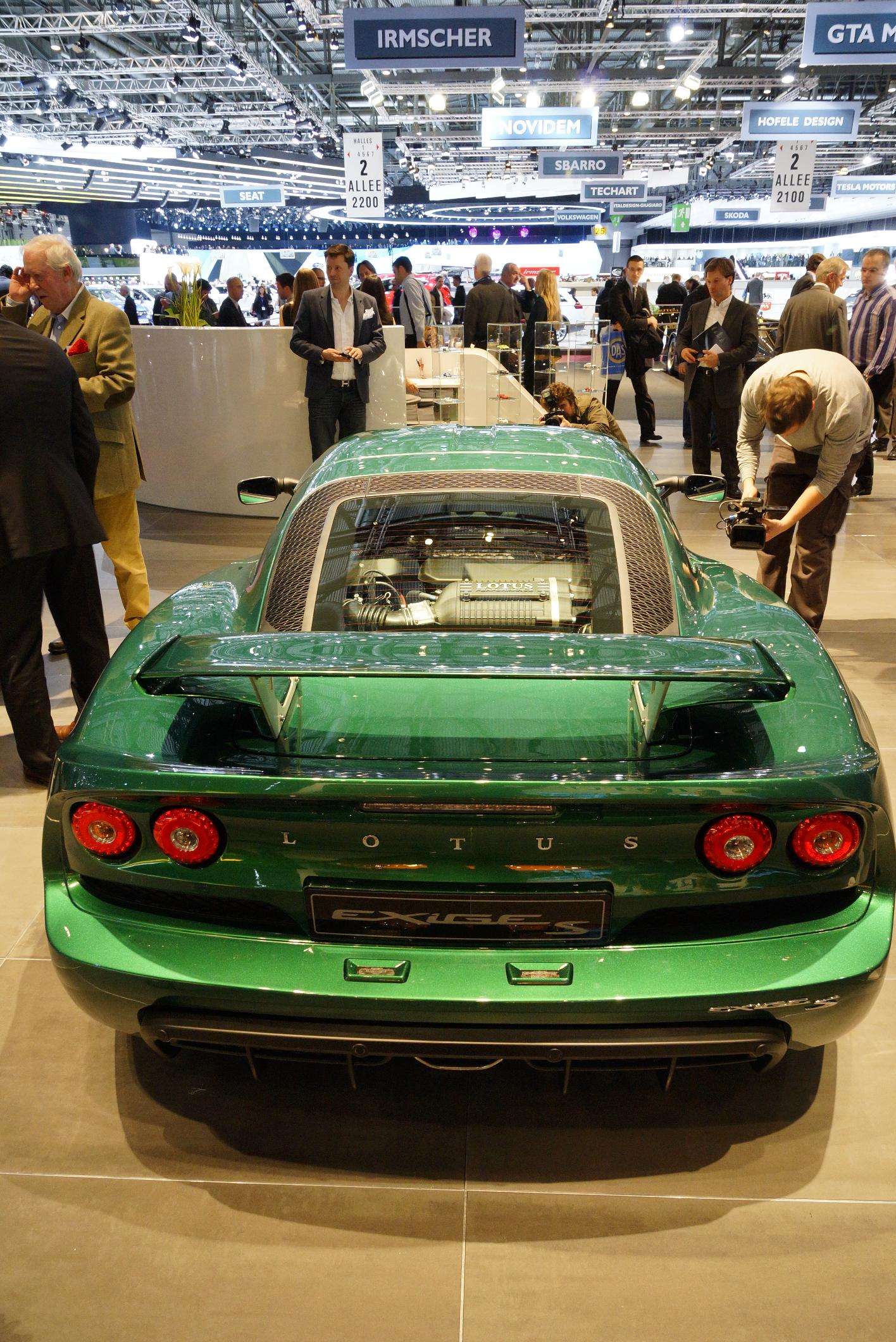 Lotus Exige S Geneva 2012 Rear
