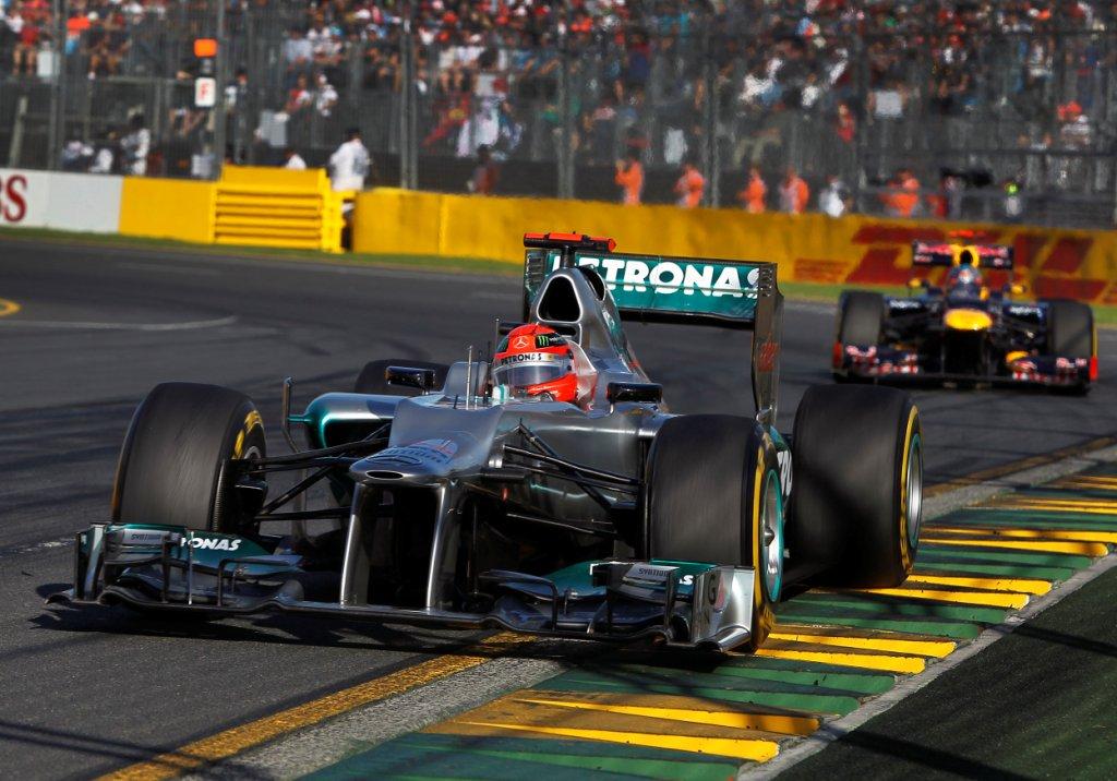 Mercedes F1 W03 Driving