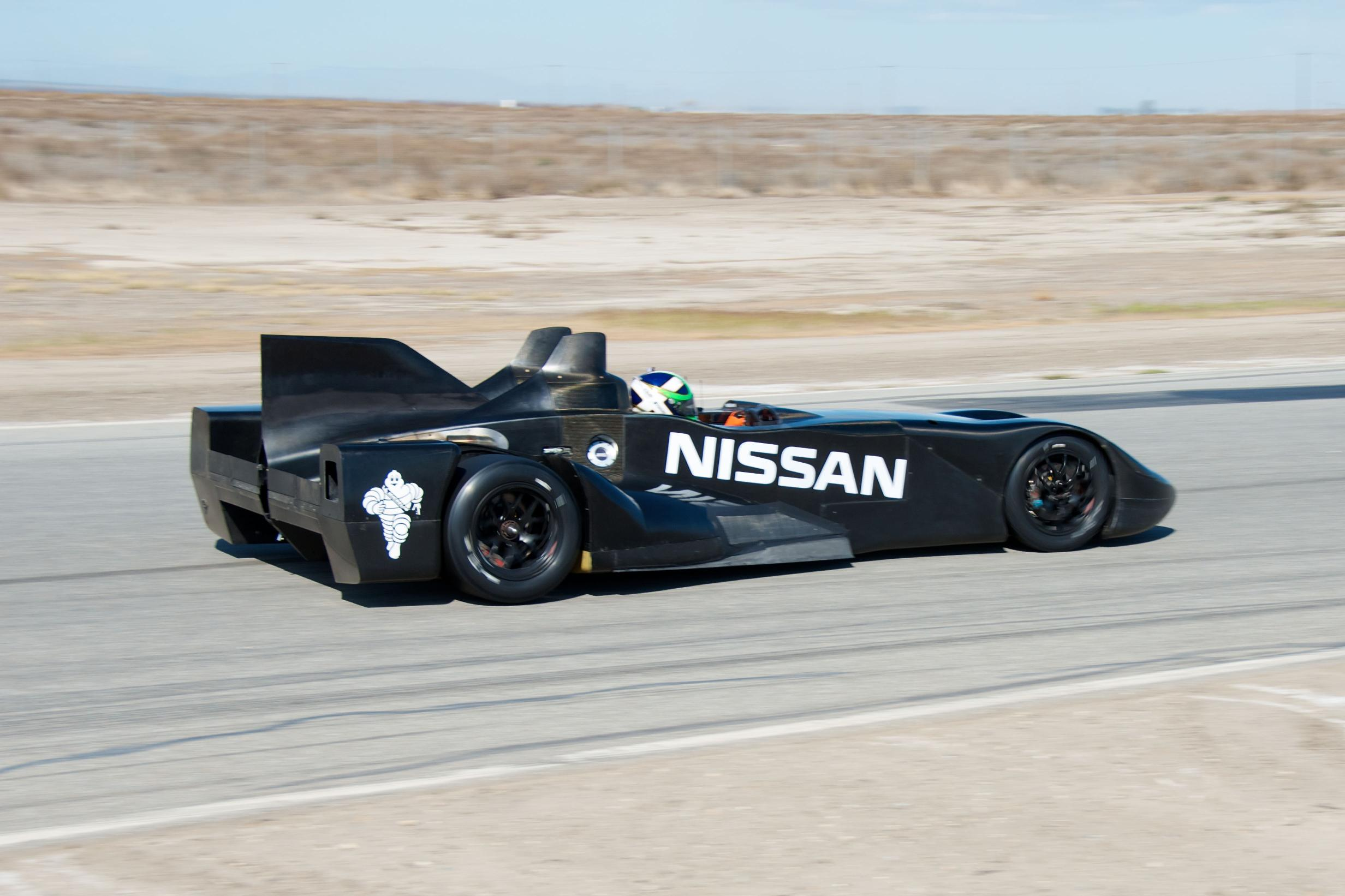 Nissan DeltaWing Batmobile Driving Rear