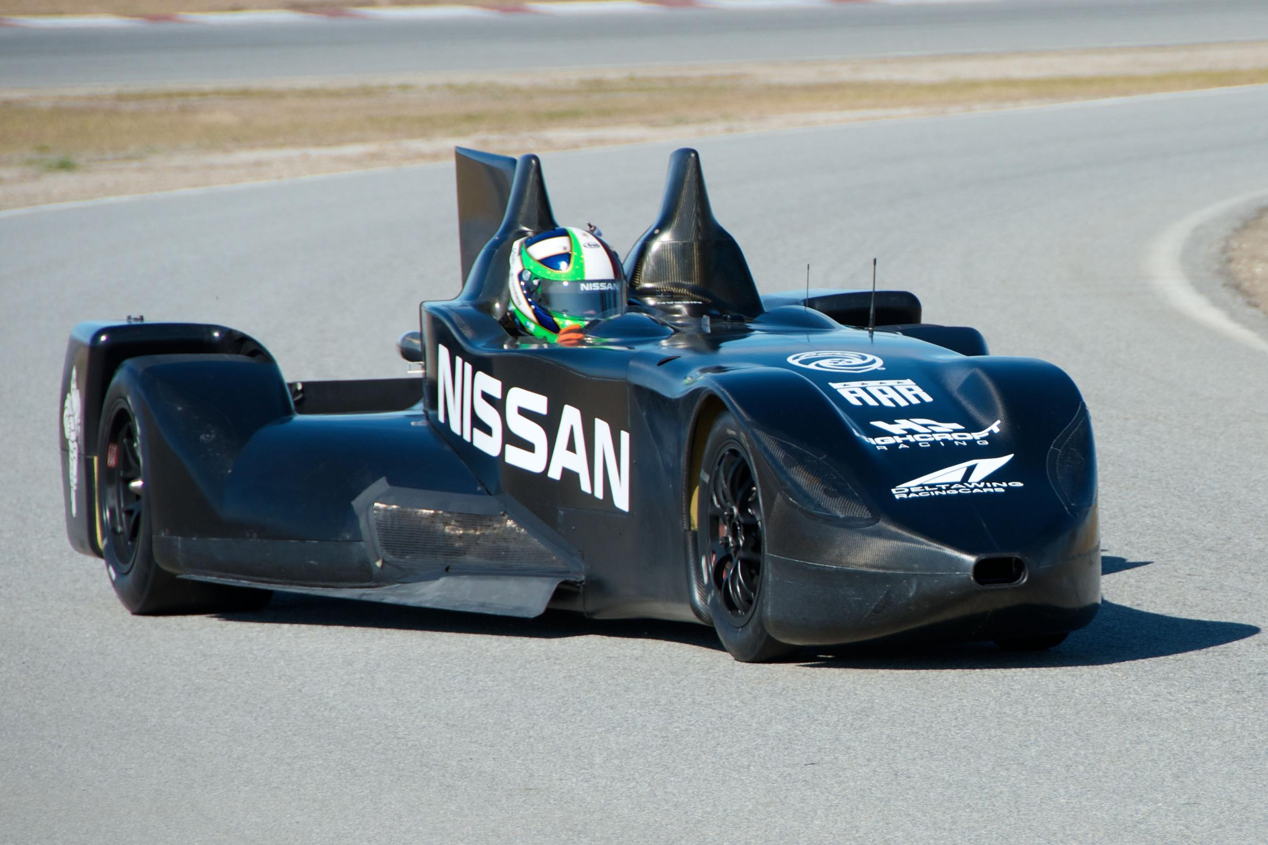Nissan DeltaWing Batmobile Front Driving
