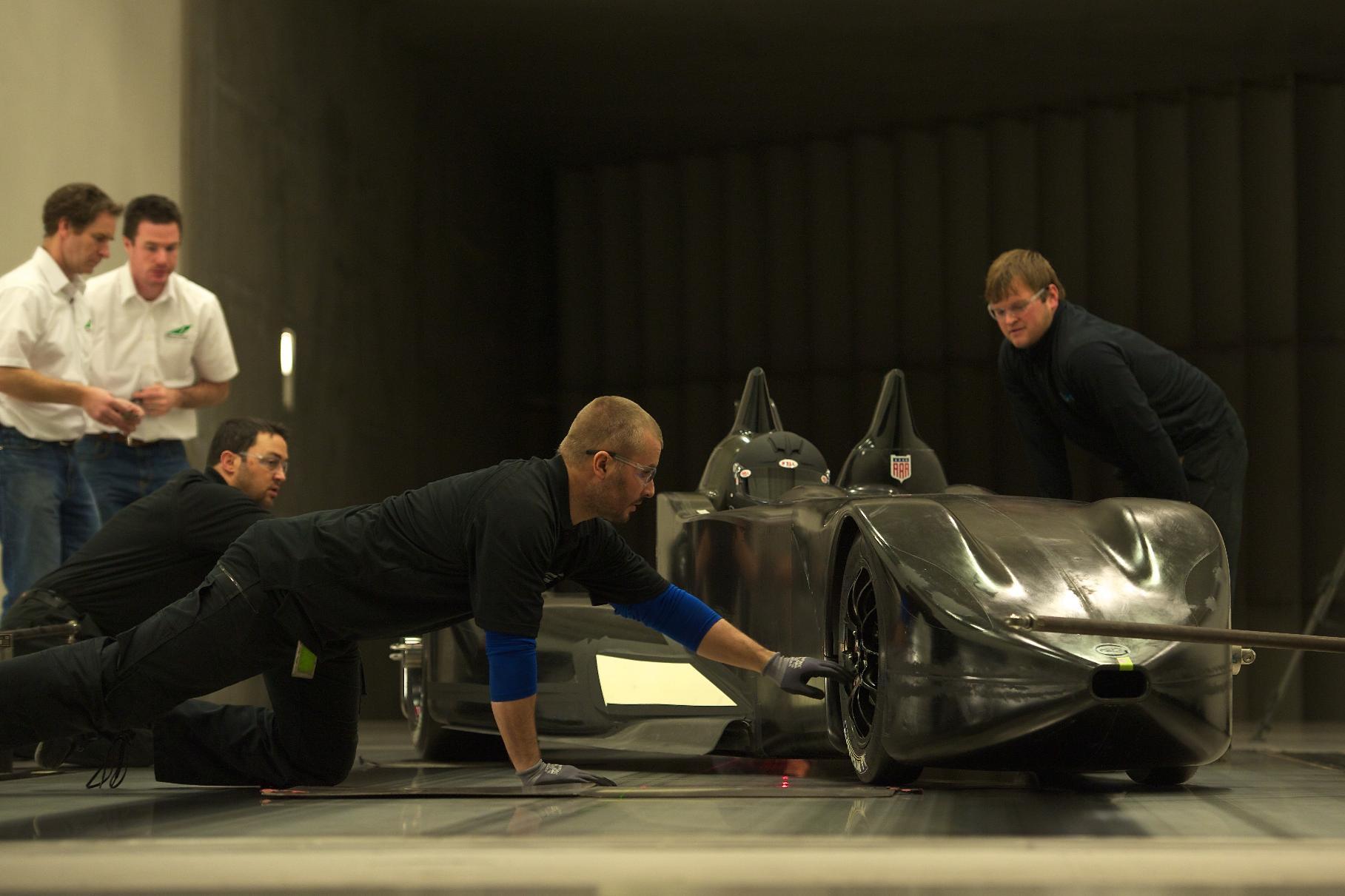 Nissan DeltaWing Batmobile Testing