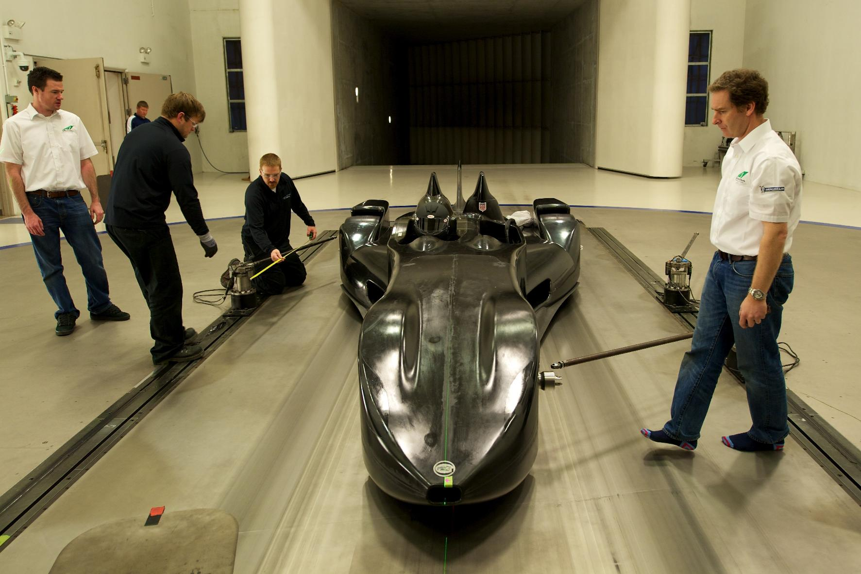 Nissan DeltaWing Batmobile Wind Tunnel 2