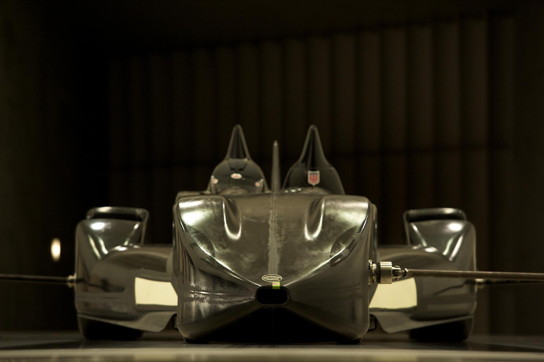 Nissan DeltaWing Batmobile Wind Tunnel Front