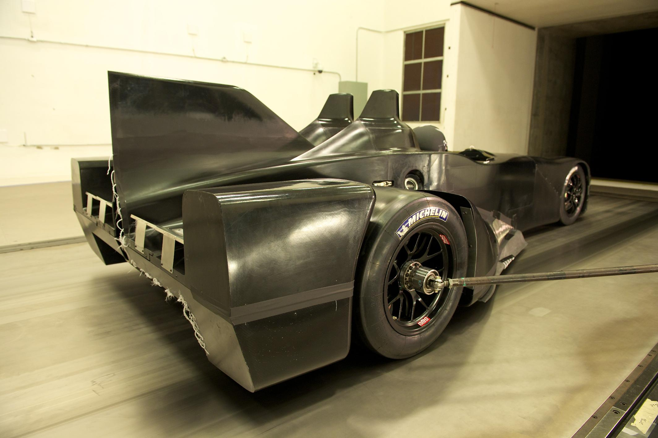 Nissan DeltaWing Batmobile Wind Tunnel