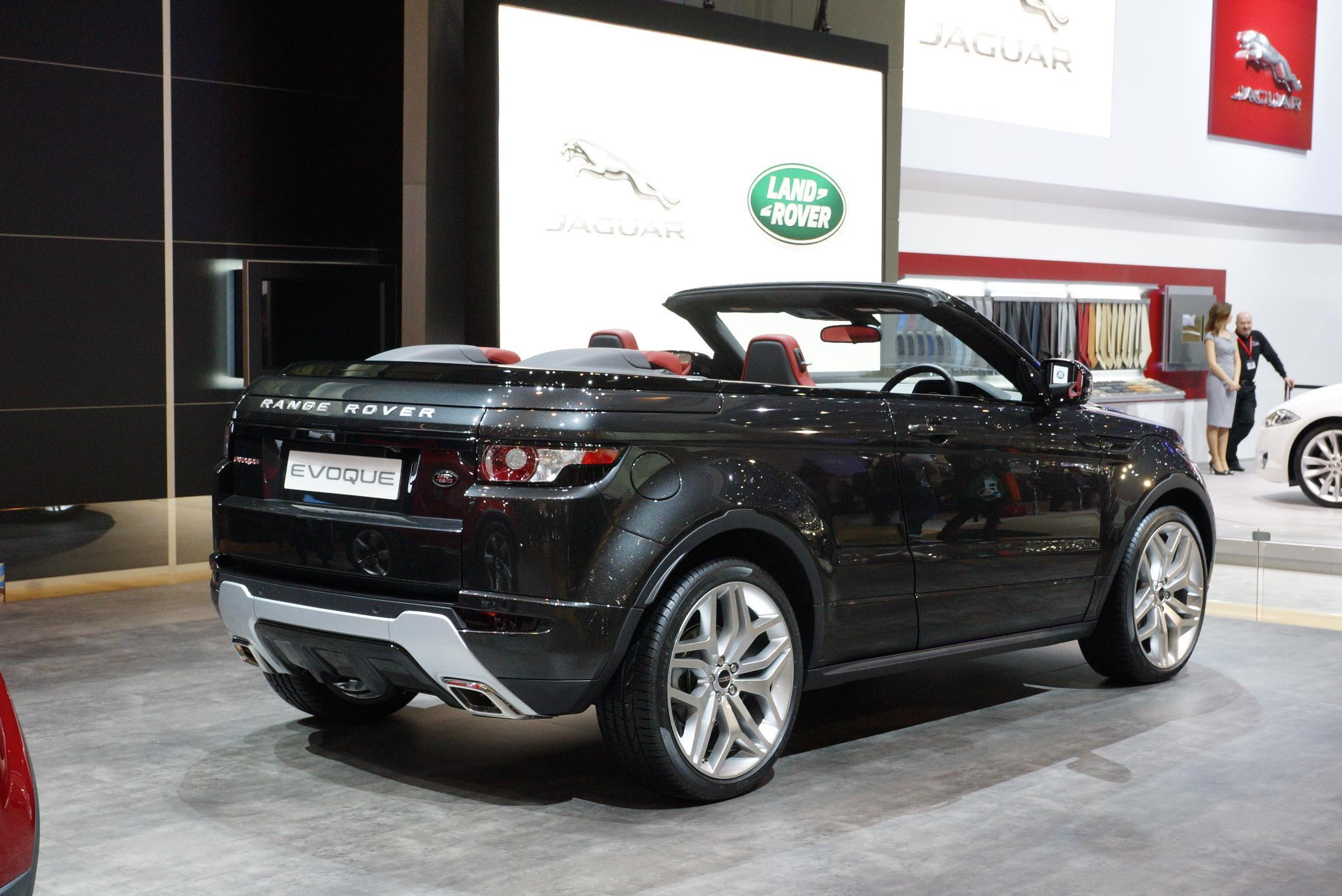 Range Rover Evoque Convertible Rear Geneva 2012