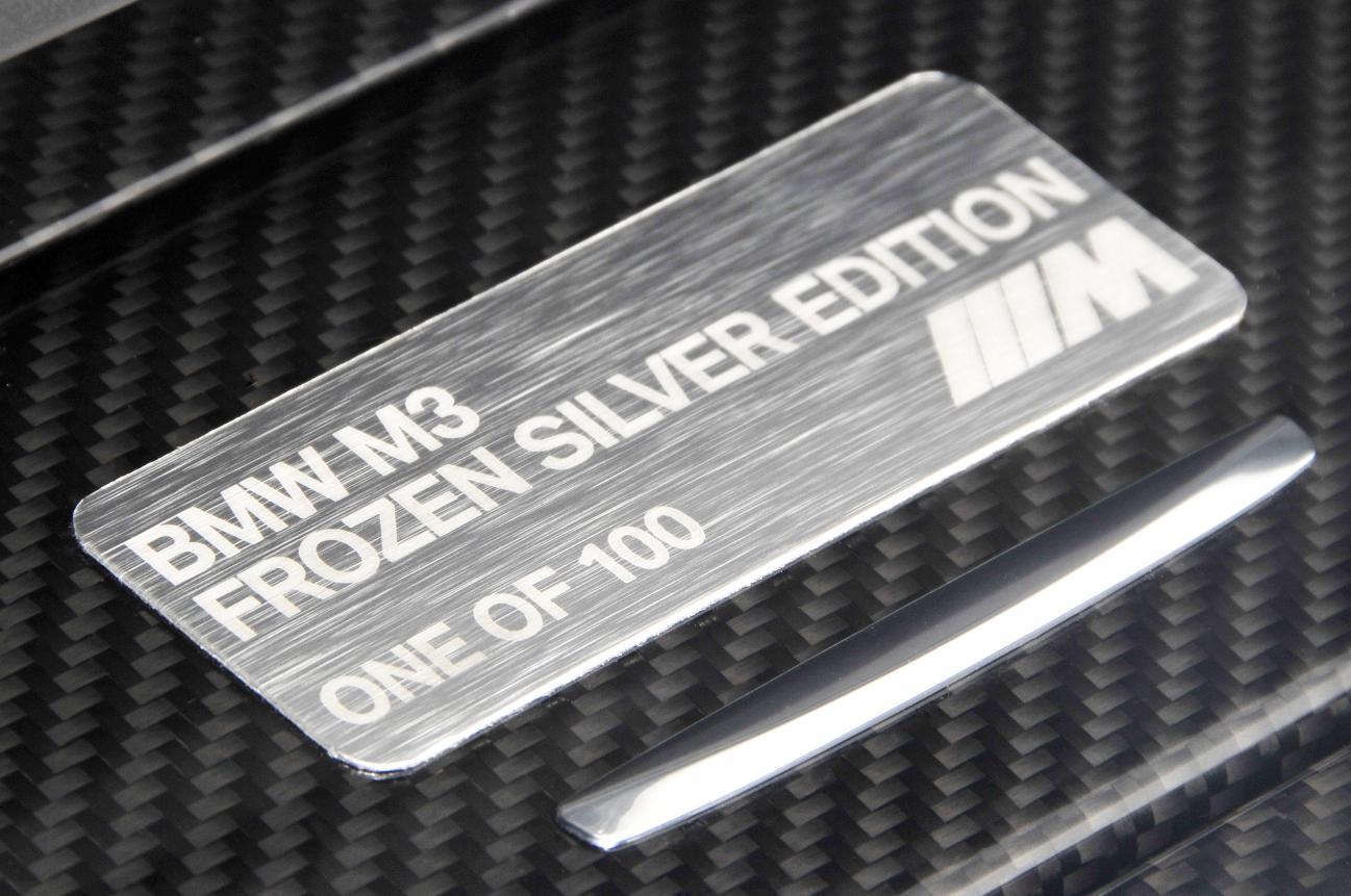 BMW M3 Frozen Silver Logo