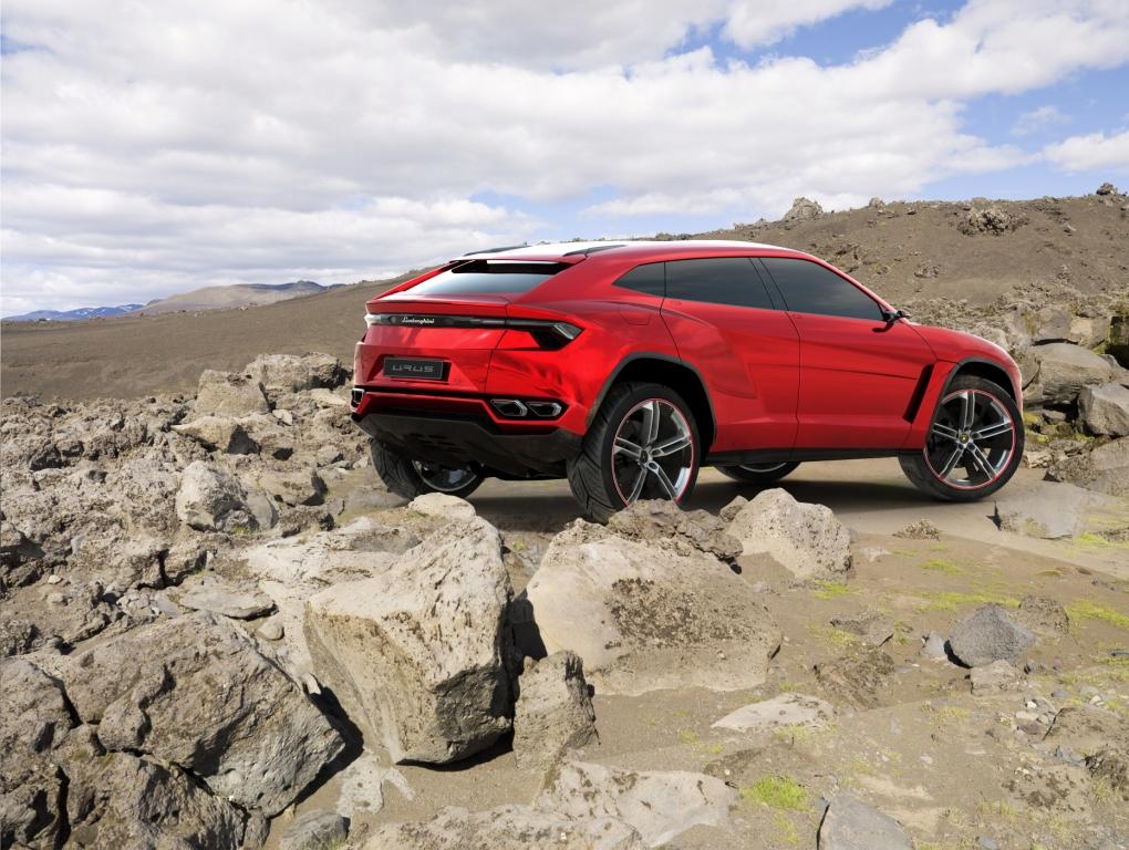 Lamborghini Urus Driving Rear