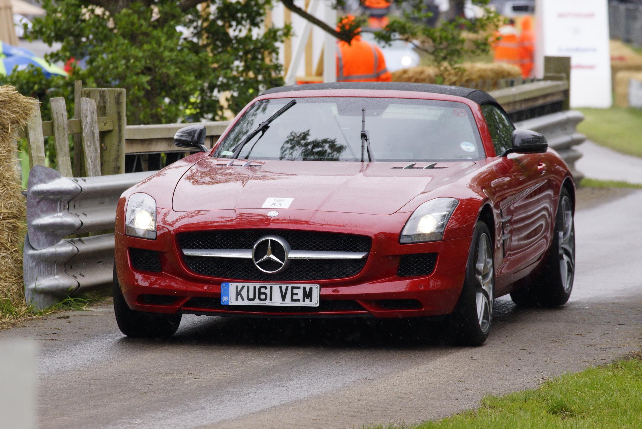 Mercedes SLS Convertible Cholmondeley 2012