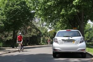 Toyota Yaris Hybrid Cyclist