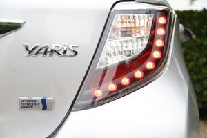 Toyota Yaris Hybrid Rear Light