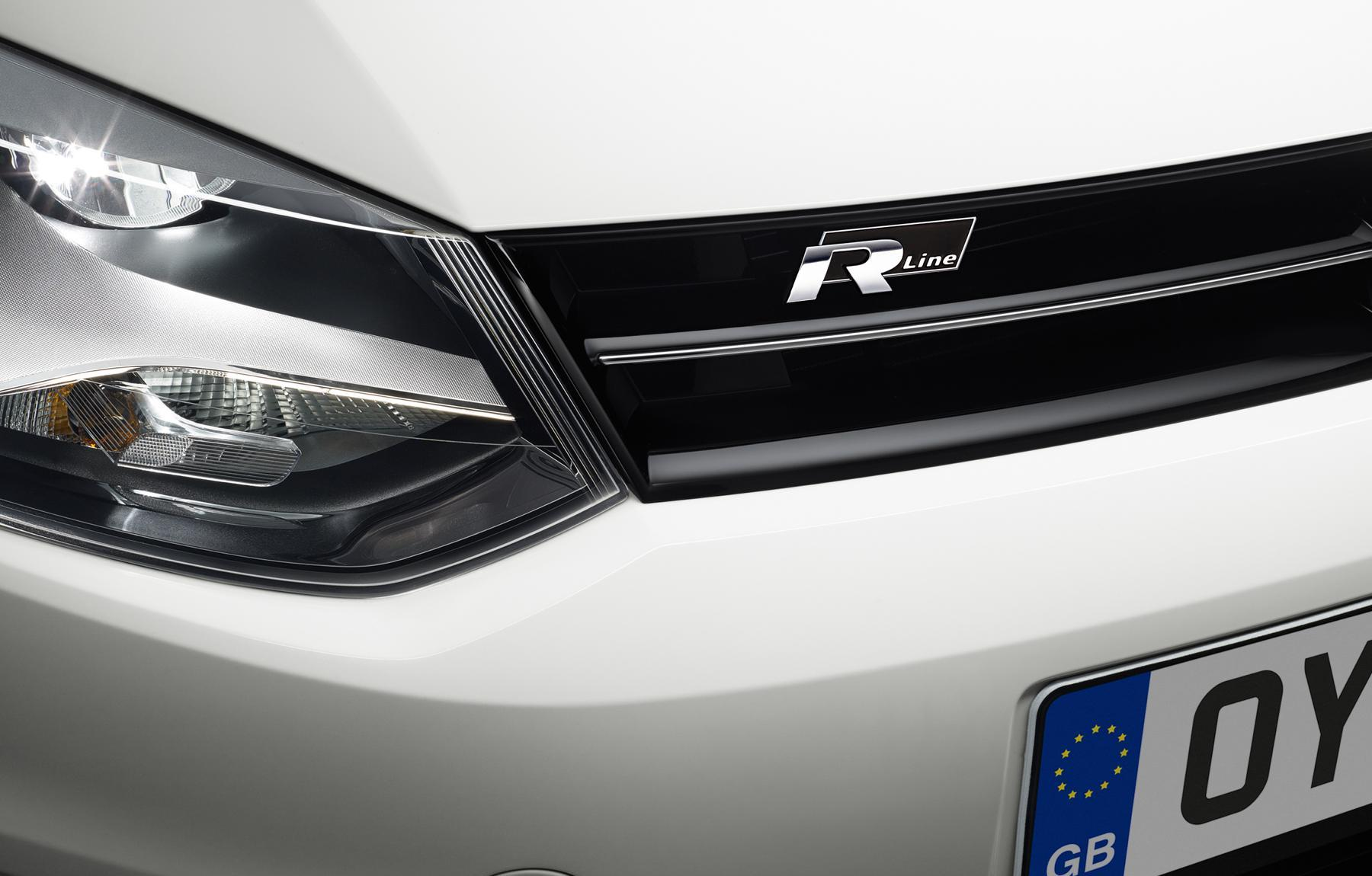 VW Polo R Badge