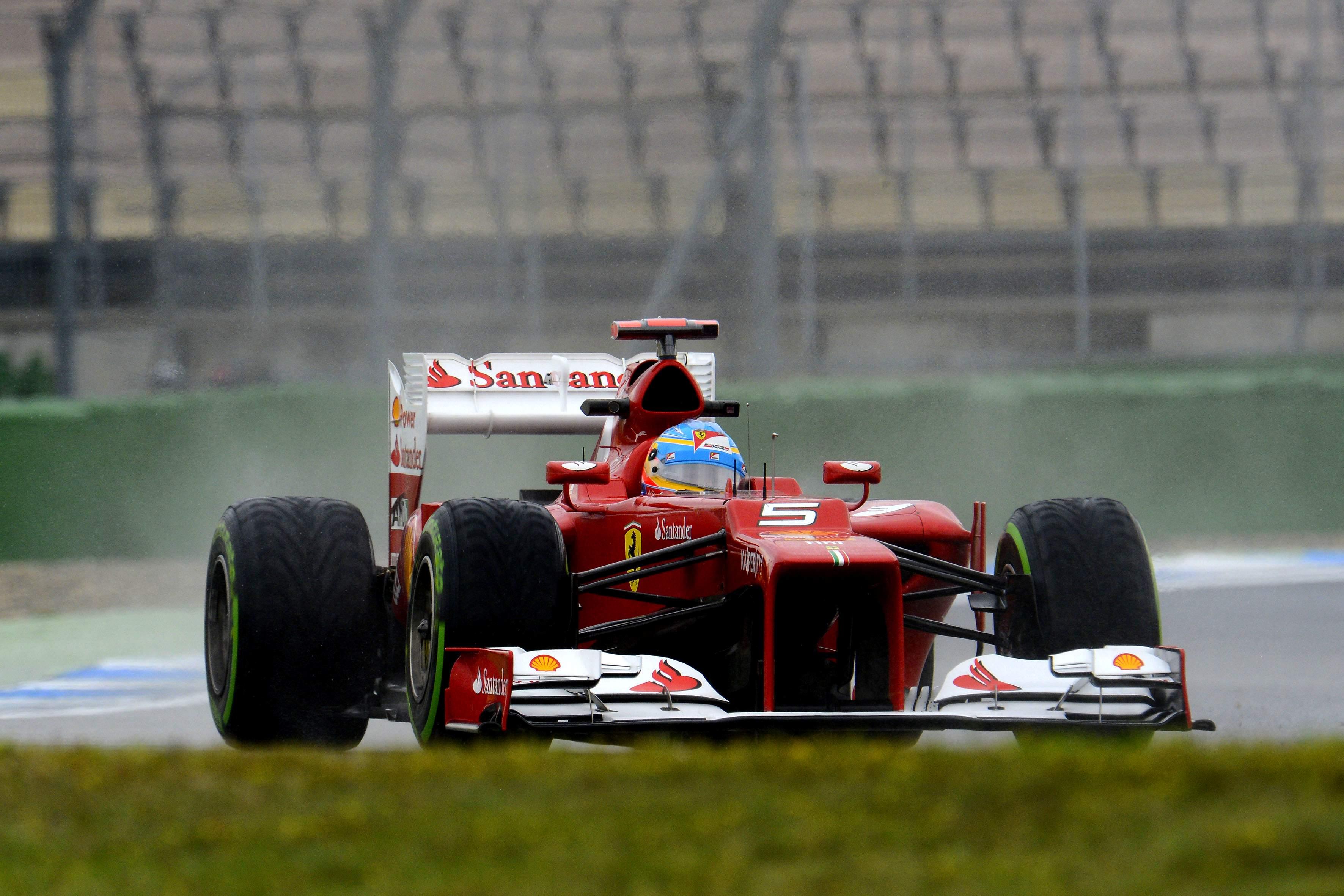 Fernando Alonso Wet
