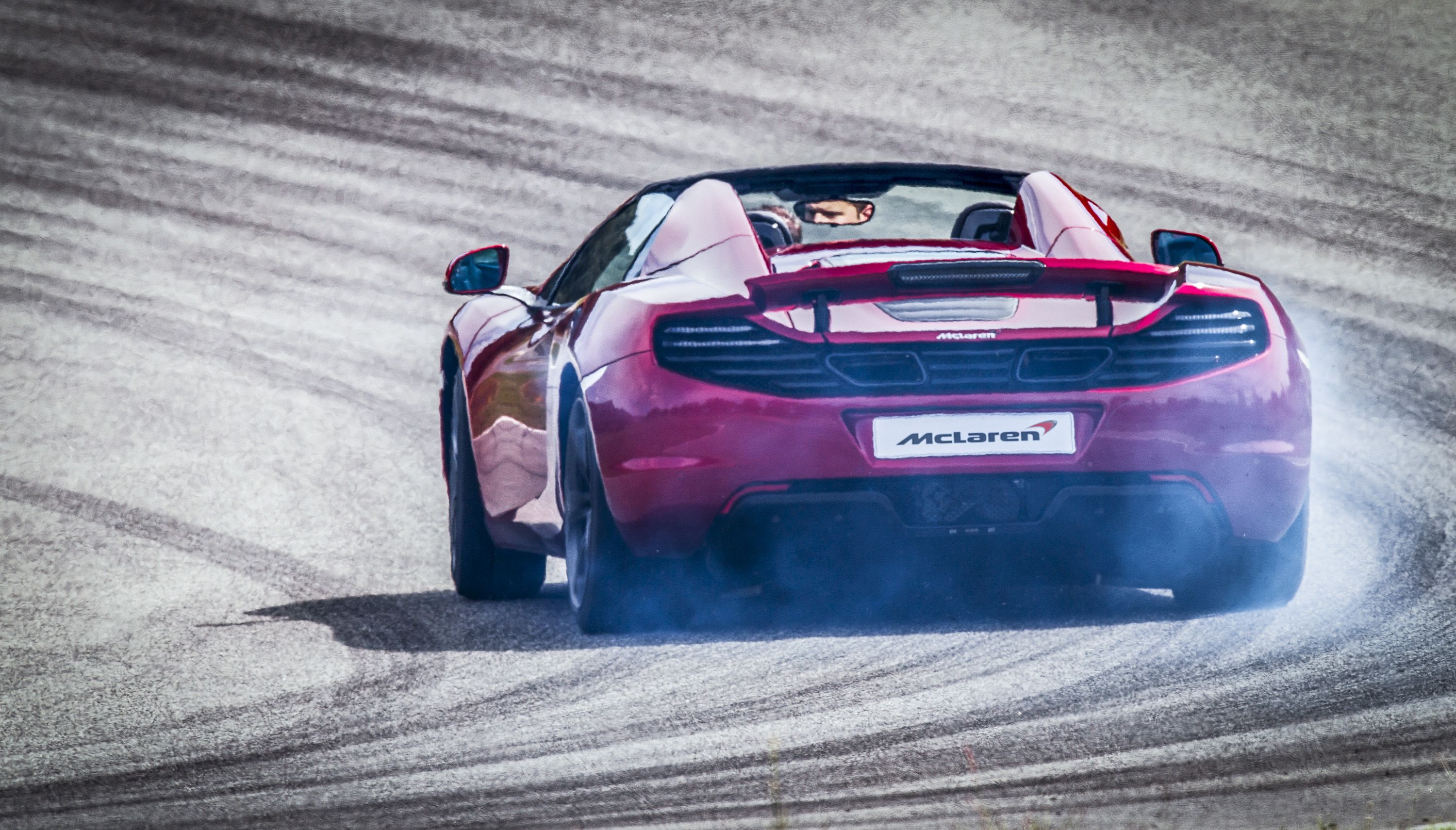 McLaren MP4-12C Spider Rear Drifting