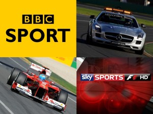 BBC F1 Sky F1 Coverage