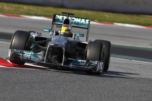 Lewis Hamilton Mercedes Barcelona Test