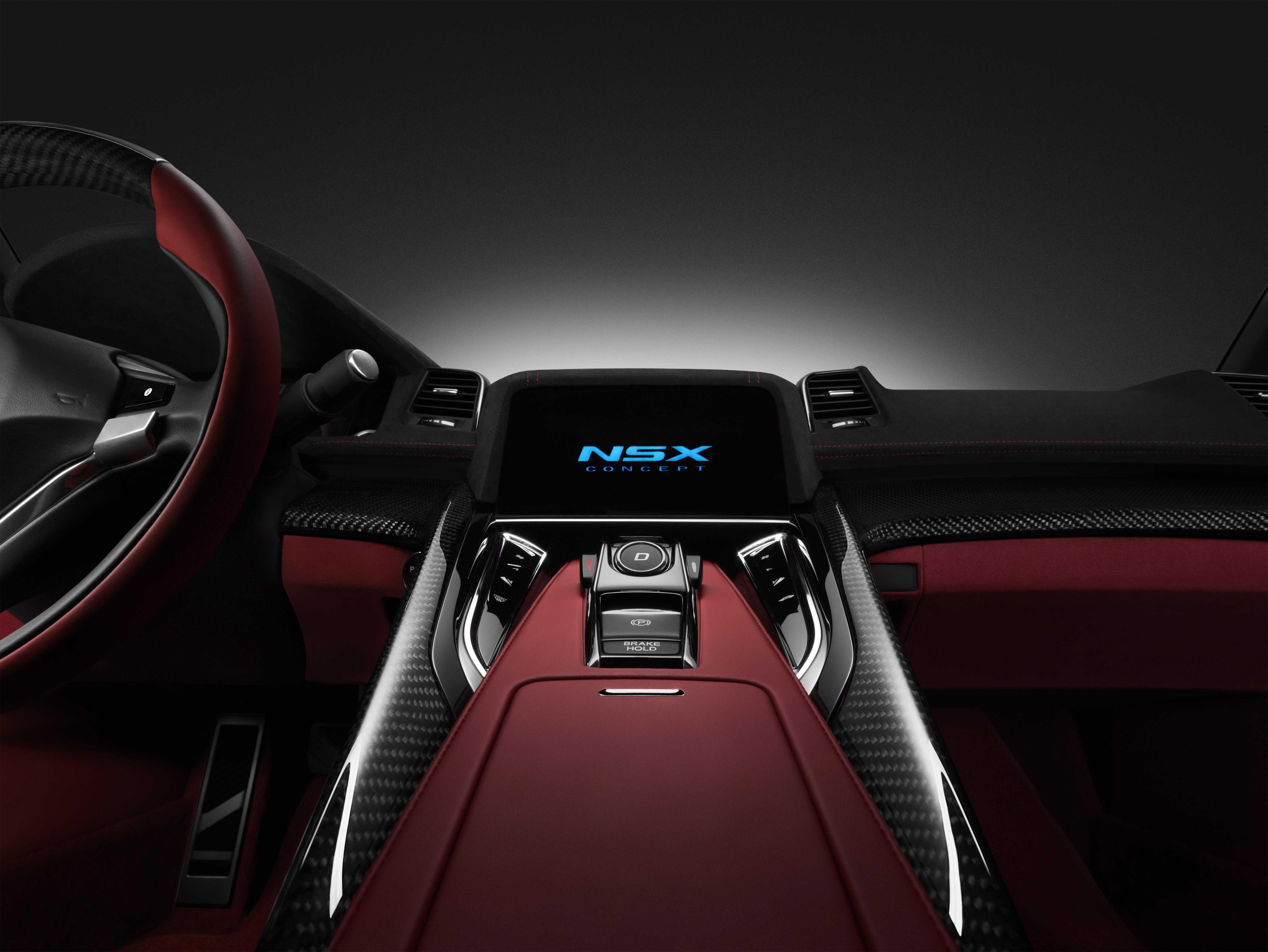 Honda NSX Concept 2013 Centre Console