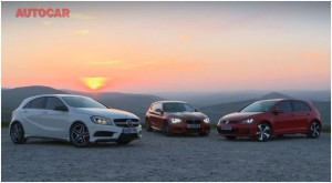 Autocar Mercedes A45 AMG BMW M135i VW Golf GTI