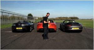 Chris Harris Jaguar F-Type Aston Martin V8 Vantage Volante Porsche 911 Carrera S Convertible