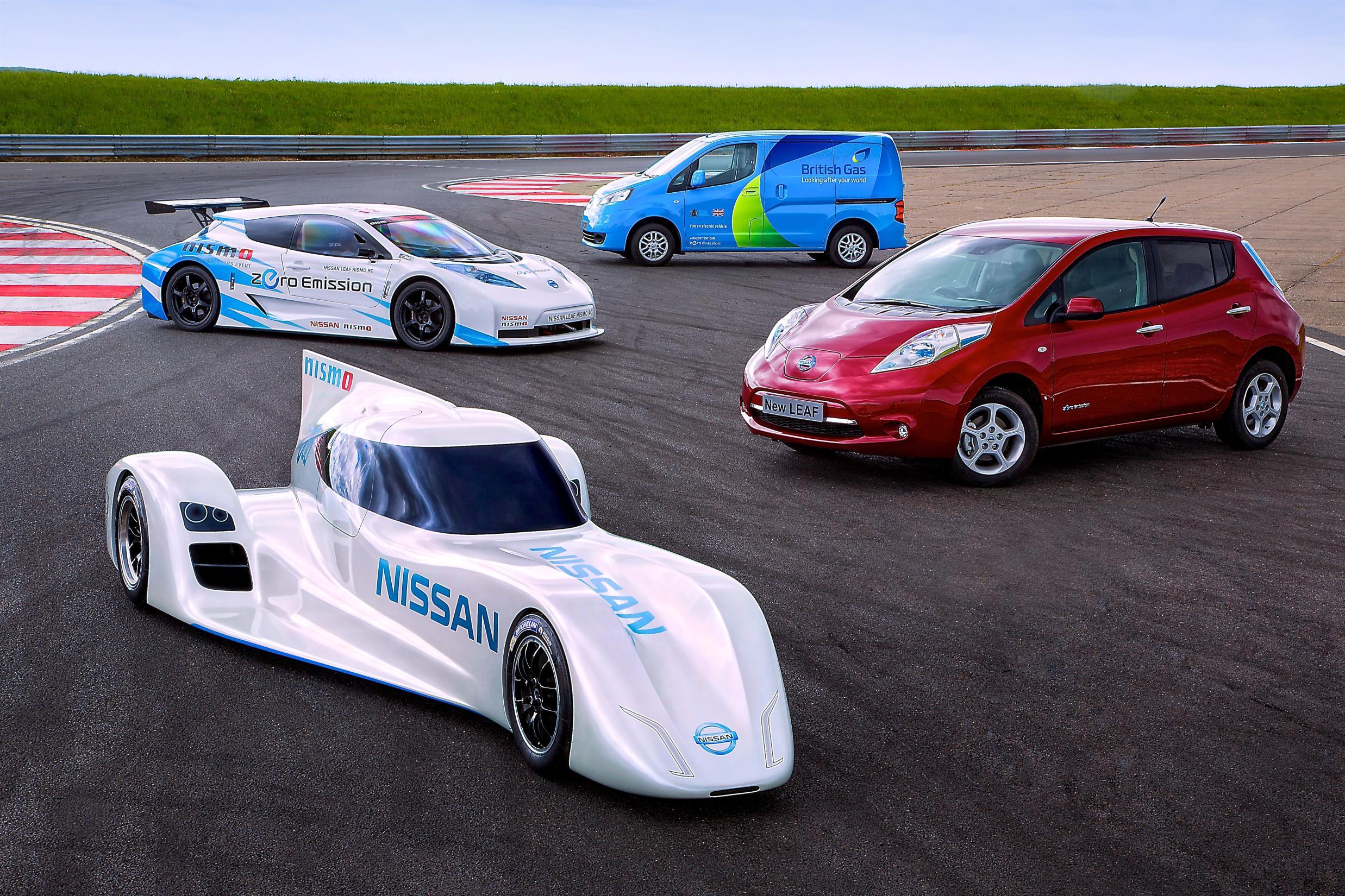 The worlds fastest electric car -  Nissan Zeod Rc Nissan Leaf