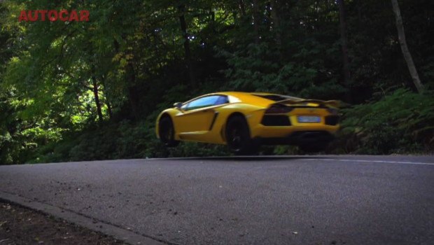 Lamborghini Aventador Jump Autocar