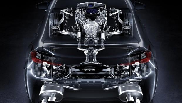 Lexus RC F Cutaway Rear
