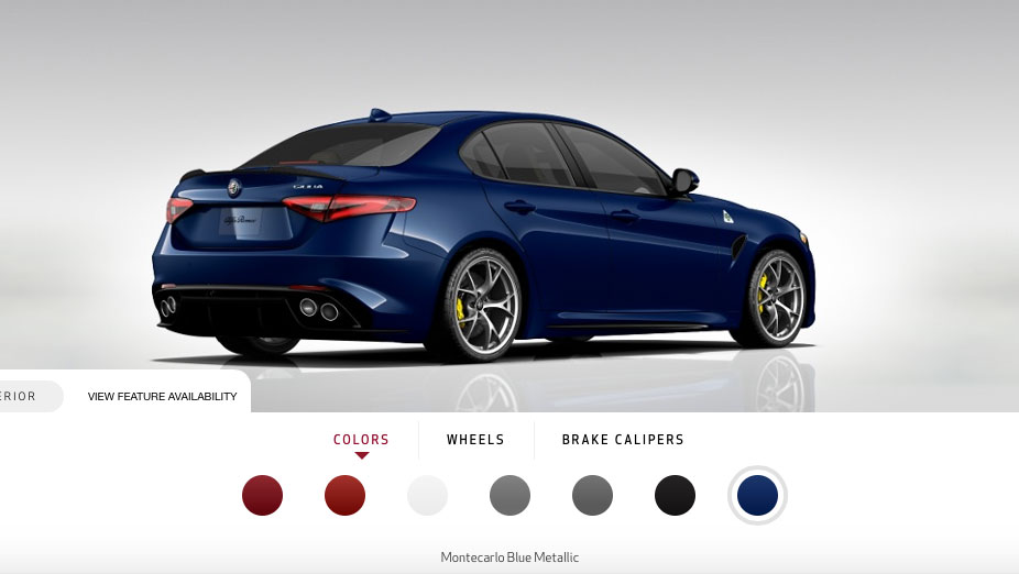 newmotoring alfa romeo 39 s giulia qv configurator is live. Black Bedroom Furniture Sets. Home Design Ideas
