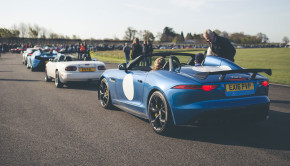 Jaguar Project 7 Goodwood Breakfast Club Soft Top Sunday