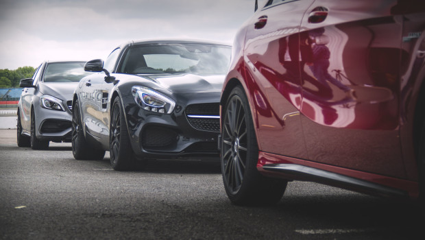 Mercedes AMG GT S And A45 AMG On Track Video