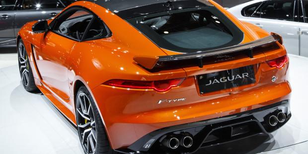 Jaguar F Type Svr Geneva Motor Show Exhaust
